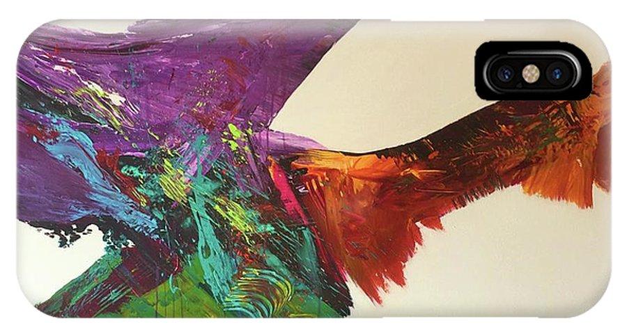 Fluid Abstract Painting John Cammarano IPhone X Case featuring the painting Fluid#1.2 by John Cammarano