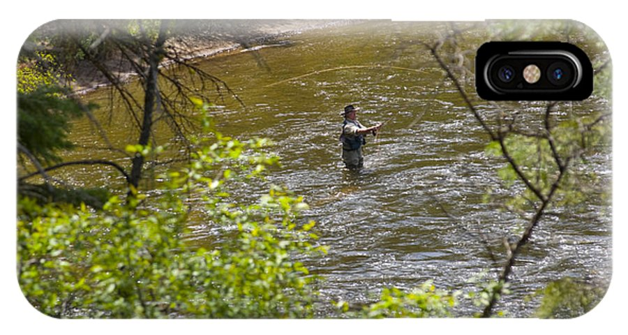 Fishing IPhone Case featuring the photograph Fly Fishing by Louise Magno
