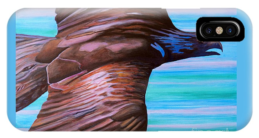 Eagle IPhone Case featuring the painting Fly Like An Eagle by Brian Commerford