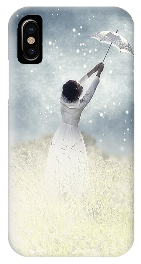 Female IPhone X Case featuring the photograph Flying Away by Joana Kruse