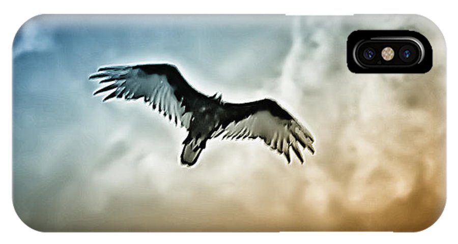 Falcon IPhone X Case featuring the photograph Flying Falcon by Bill Cannon
