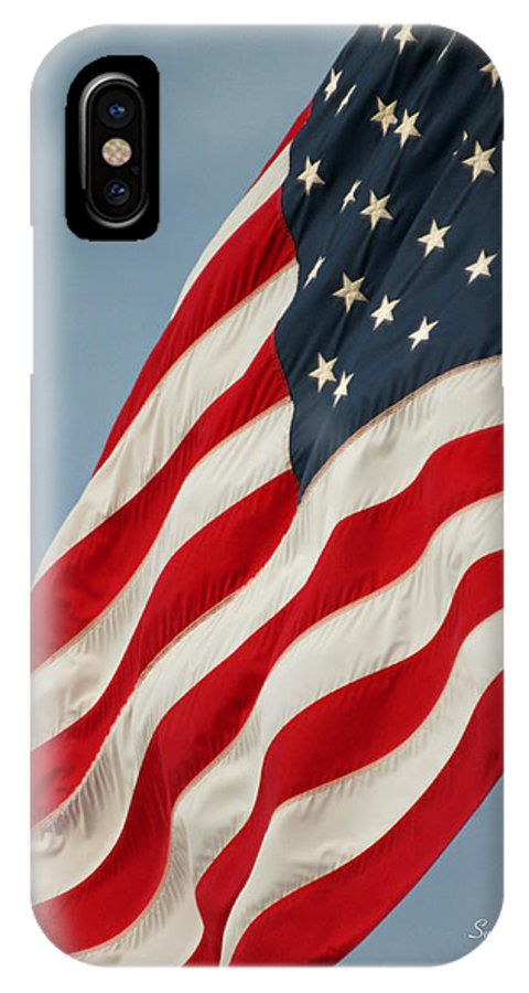 Flag IPhone X Case featuring the photograph Flying High And Free by Suzanne Gaff