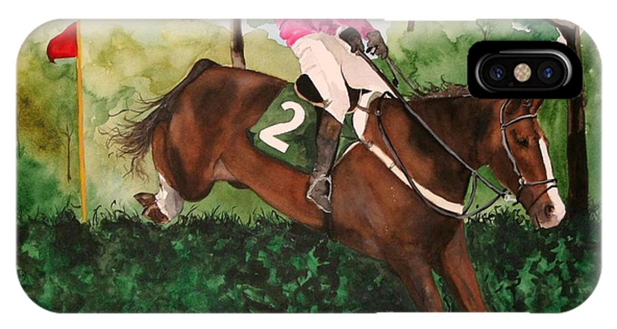 Horse IPhone Case featuring the painting Flying High by Jean Blackmer