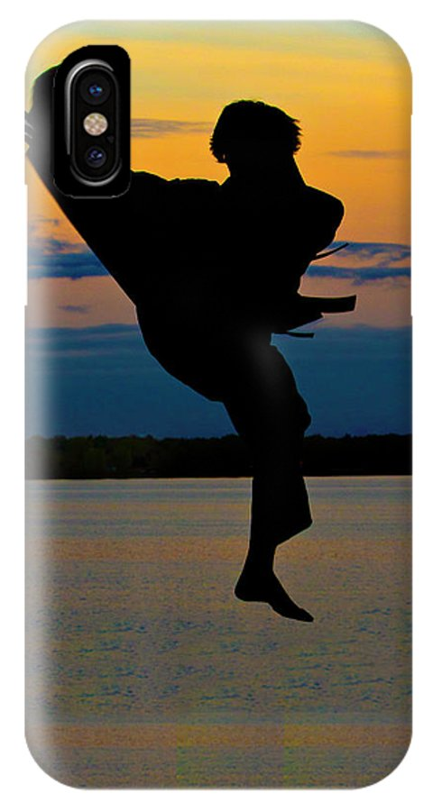 Photography IPhone X Case featuring the photograph Flying Over Muskegon Lake by Frederic A Reinecke