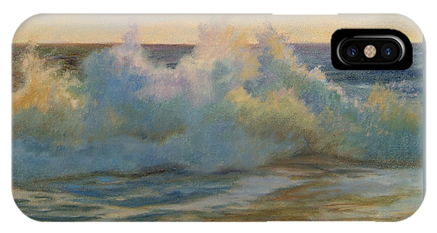Waves IPhone X Case featuring the painting Foaming Ocean Waves by Phyllis Tarlow