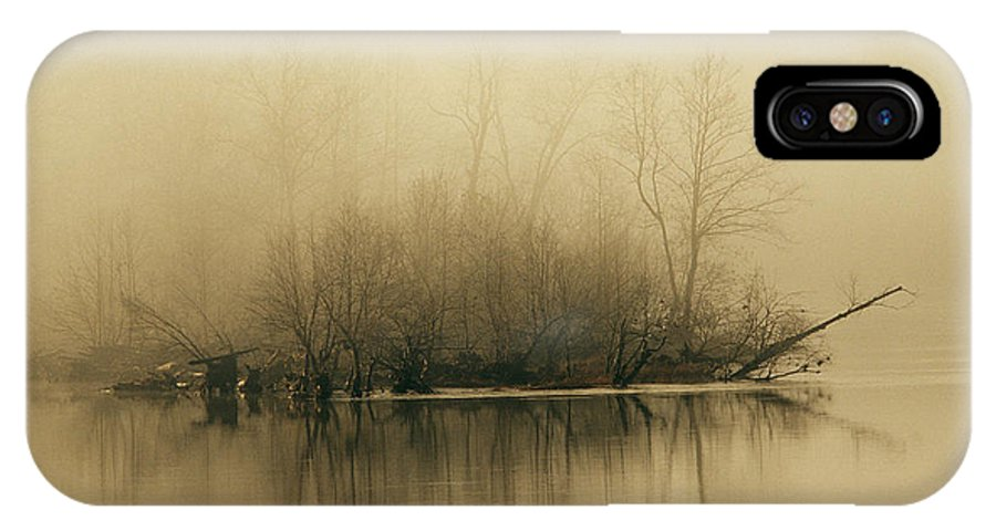 Day IPhone X Case featuring the photograph Fog Hovers Above The James River by Raymond Gehman