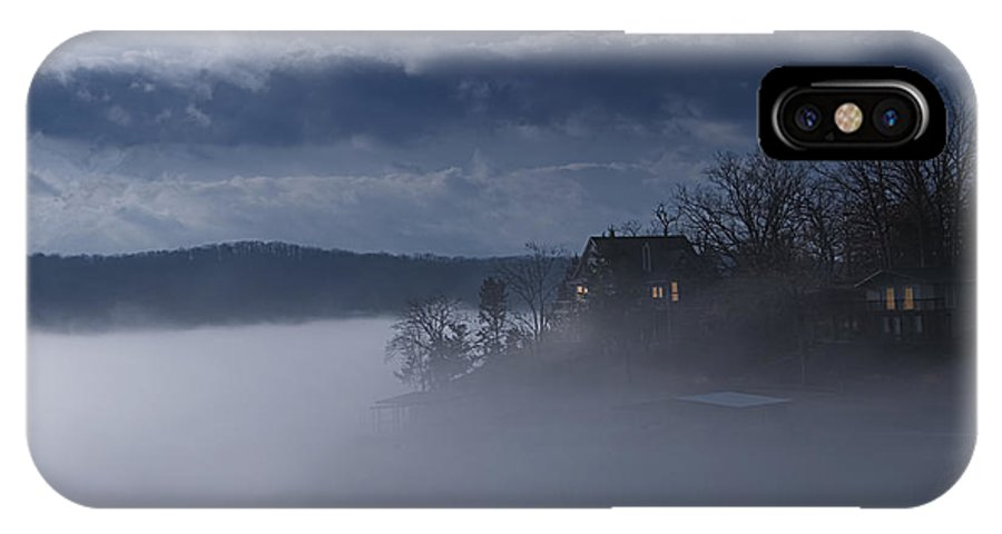 Lake IPhone X Case featuring the photograph Fog On The Lake - Dawn At The Lake Of The Ozarks, Missouri by Mitch Spence