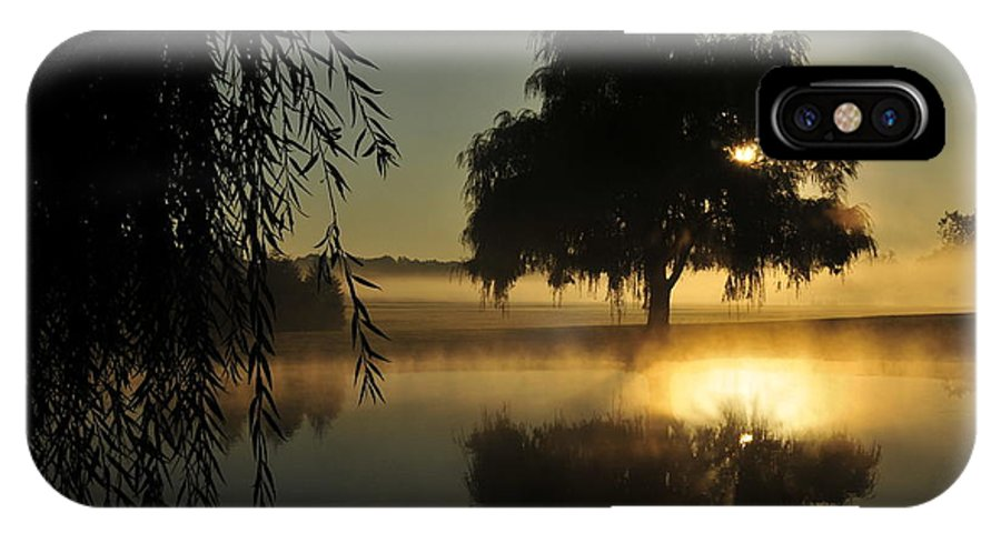 Morning Sun IPhone X Case featuring the photograph Fog Water And Sun by David Arment
