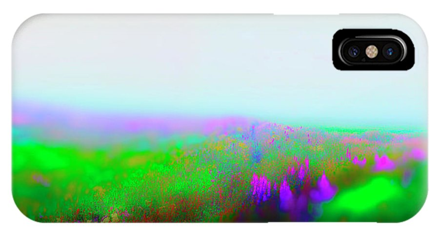 Railroad IPhone X Case featuring the photograph Fogged Floral by Jan W Faul