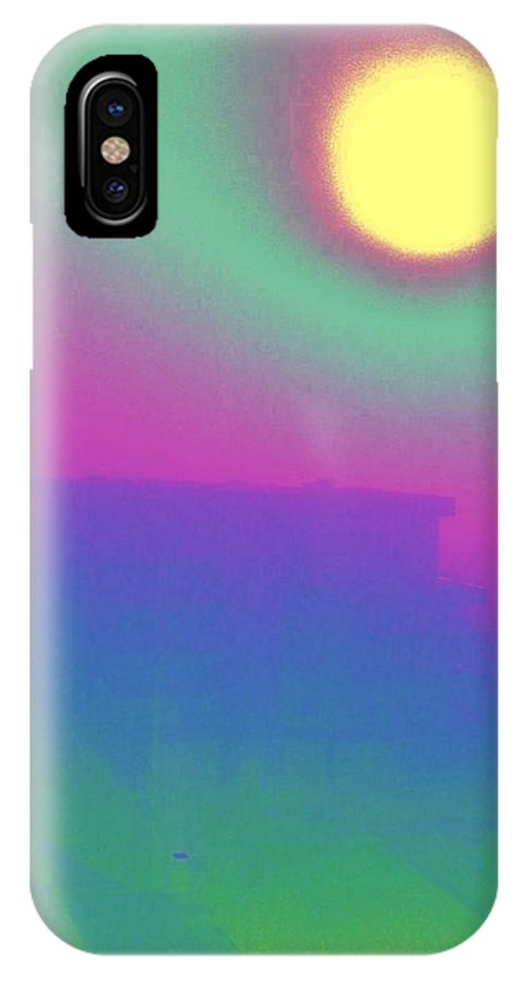 Abstract IPhone X Case featuring the digital art Foggy Day by Tim Allen