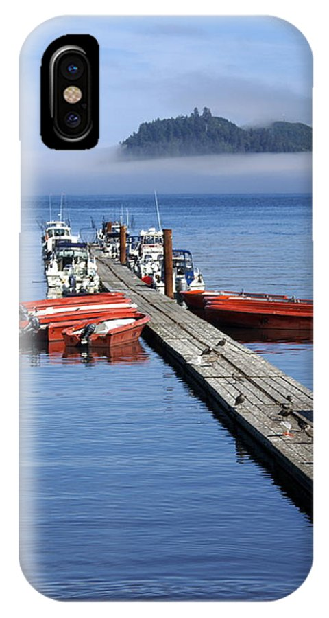 Olympic IPhone X Case featuring the photograph Foggy Dock by Marty Koch