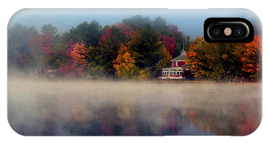 Poland Spring IPhone X Case featuring the photograph Foggy Fall Reflections by Colleen Phaedra