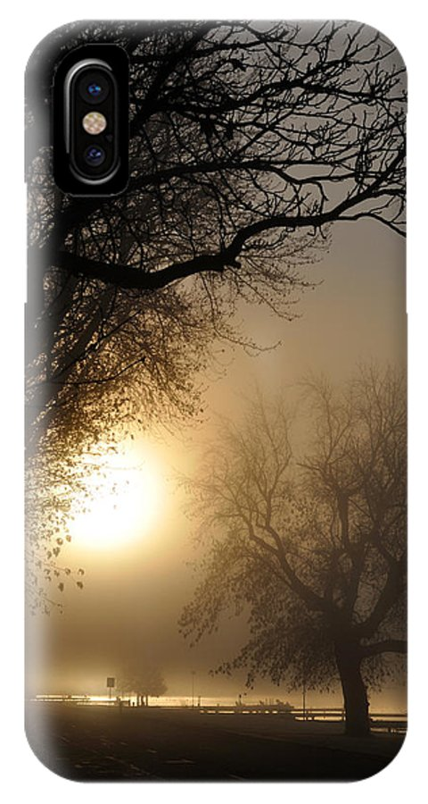 Foggy IPhone X Case featuring the photograph Foggy Morn by Tim Nyberg