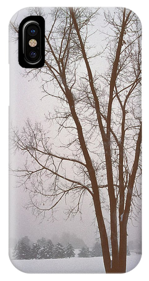 Nature IPhone X Case featuring the photograph Foggy Morning Landscape 13 by Steve Ohlsen