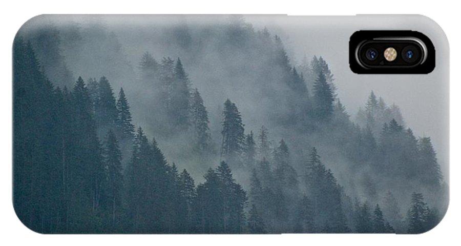 Alaska IPhone X Case featuring the photograph Foggy Mountain Ridge by Eric Tressler