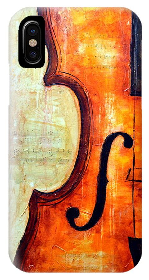 Music Paintings IPhone X Case featuring the mixed media Follow your Dreams by Ivan Guaderrama