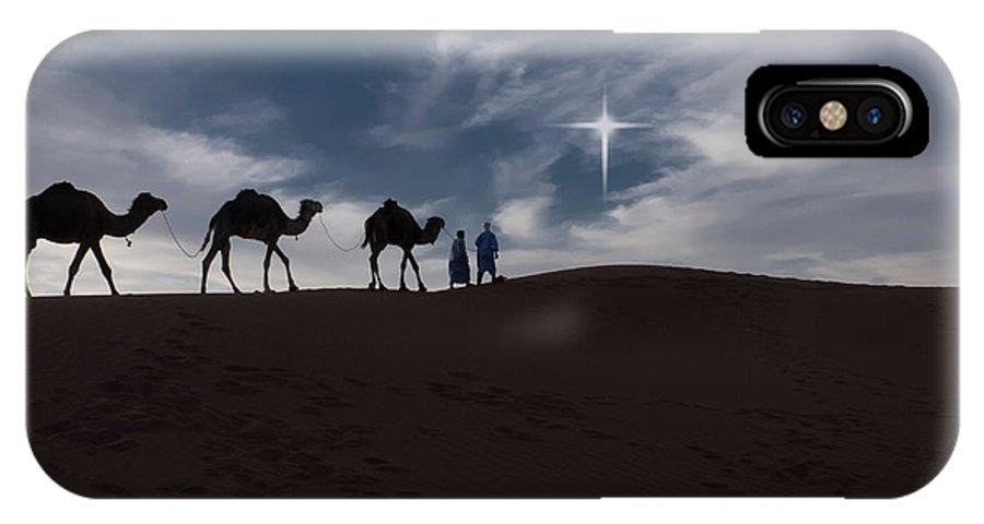 Africa IPhone X Case featuring the photograph Following The Star by Emily M Wilson
