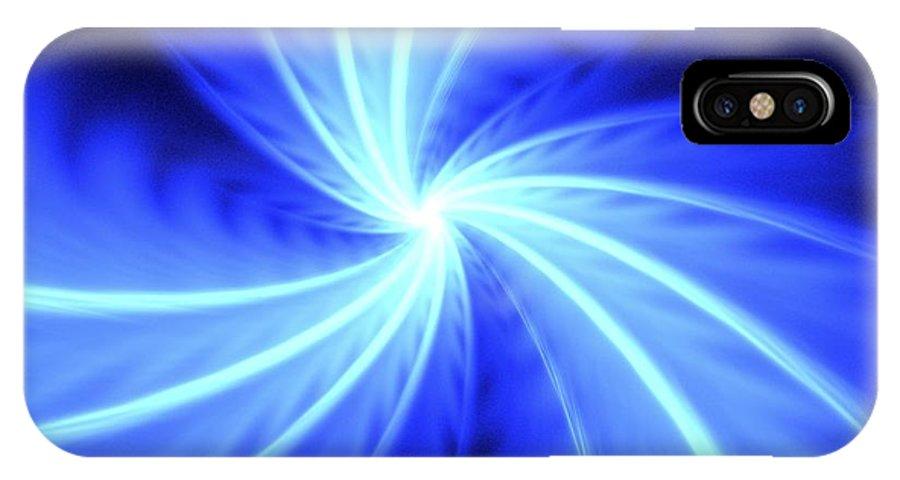 Apophysis IPhone X Case featuring the digital art Fomalhaut by Kim Sy Ok