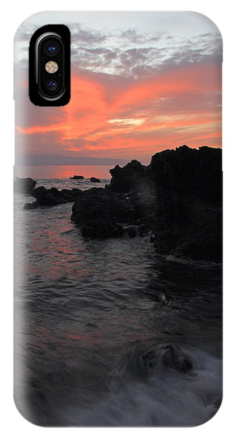 Seascape IPhone X Case featuring the photograph Fonsalia Red by Phil Crean