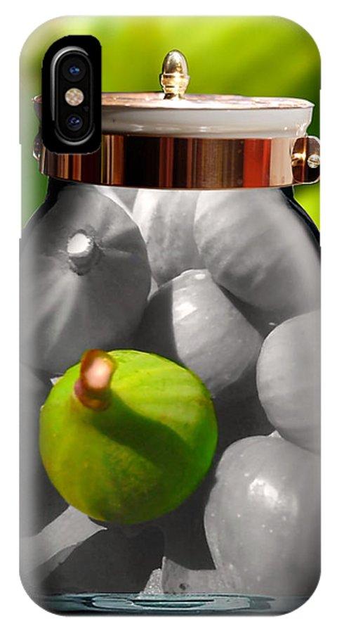 IPhone X Case featuring the digital art Food Fruit Figs 1 by Caroline Peklivana