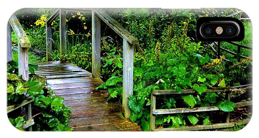 Nature IPhone X / XS Case featuring the photograph Foot Bridge And Fence by Richard Jenkins