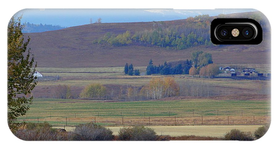 Mountain IPhone X Case featuring the photograph Foothills Farm by Ed Mosier