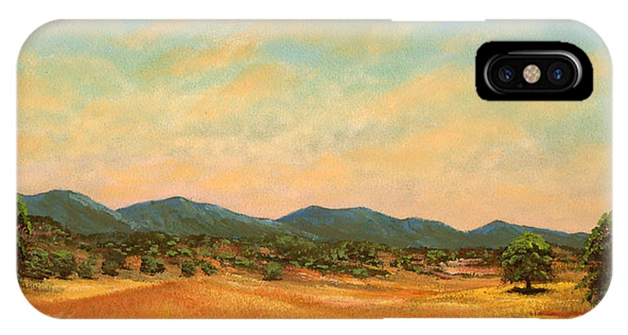 Landscape IPhone X Case featuring the painting Foothills by Frank Wilson