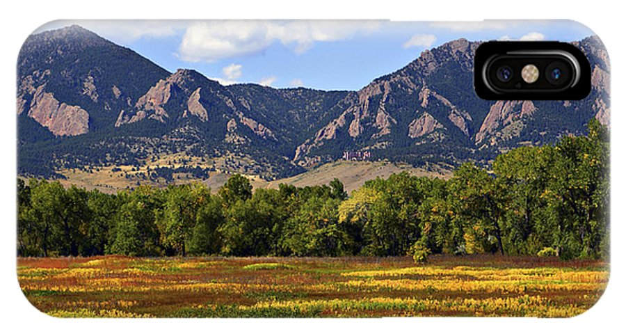 Fall IPhone X Case featuring the photograph Foothills Of Colorado by Marilyn Hunt