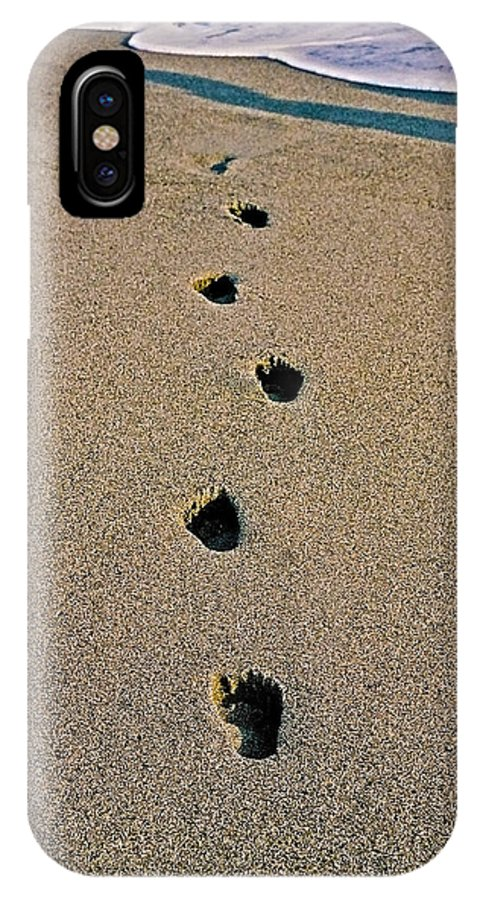 Pacific IPhone X Case featuring the photograph Footprints In The Sand ... by Juergen Weiss