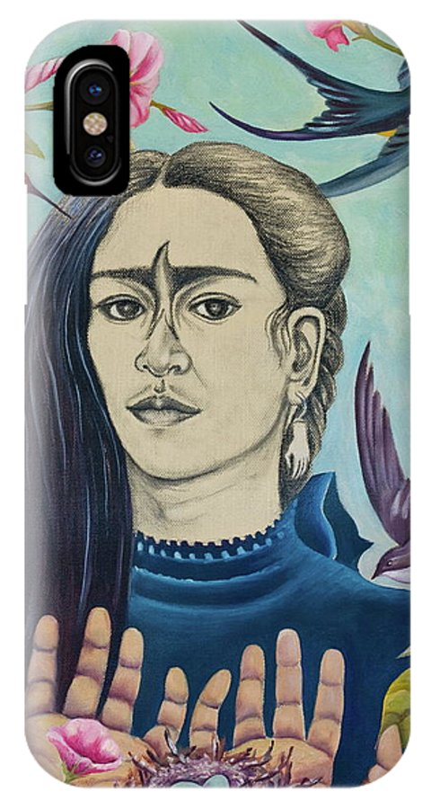 Frida IPhone X Case featuring the painting For Frida by Sheri Howe