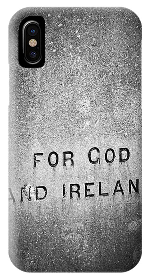 Irish IPhone X Case featuring the photograph For God and Ireland Macroom Ireland by Teresa Mucha