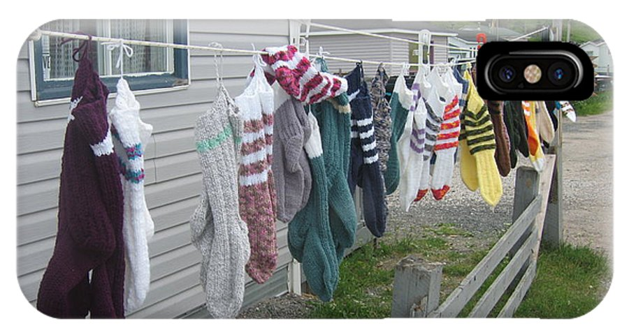 Knitted Socks Newfoundland IPhone X / XS Case featuring the photograph For Sale by Seon-Jeong Kim