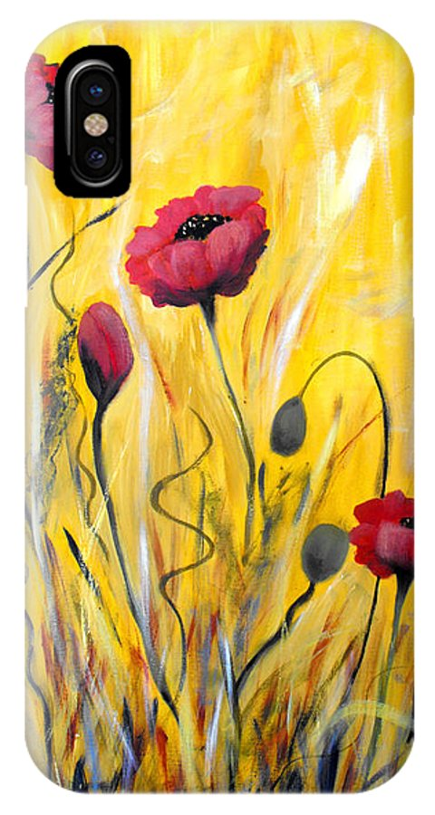ruth Palmer IPhone X Case featuring the painting For The Love Of Poppies by Ruth Palmer