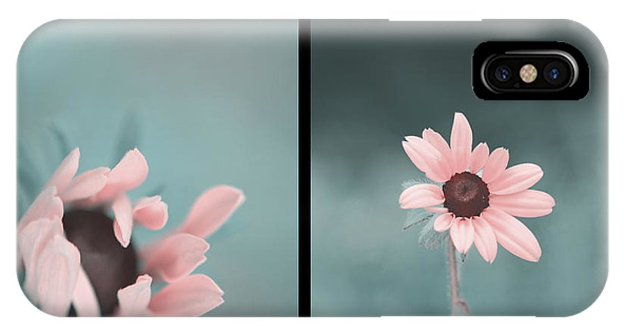 Flower IPhone X Case featuring the photograph For You - Diptych by Aimelle