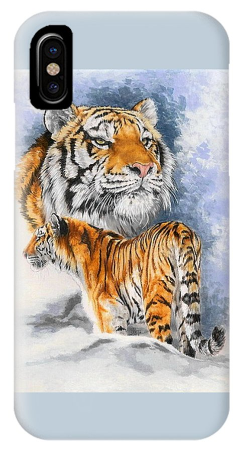 Big Cats IPhone Case featuring the mixed media Forceful by Barbara Keith