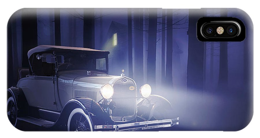 Ford IPhone X Case featuring the digital art Ford 1929 by Hay Rouleaux