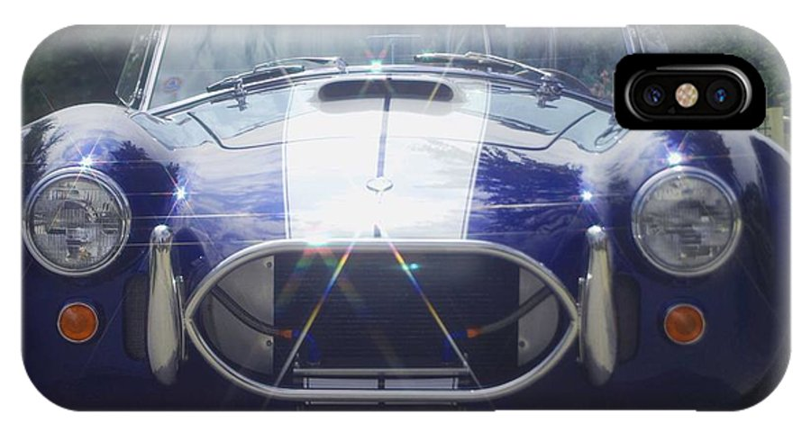 Speed IPhone X Case featuring the photograph Ford Cobra by Margaret Fortunato