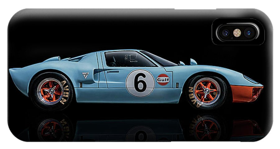 Ford IPhone X Case featuring the digital art Ford Gt 40 by Douglas Pittman
