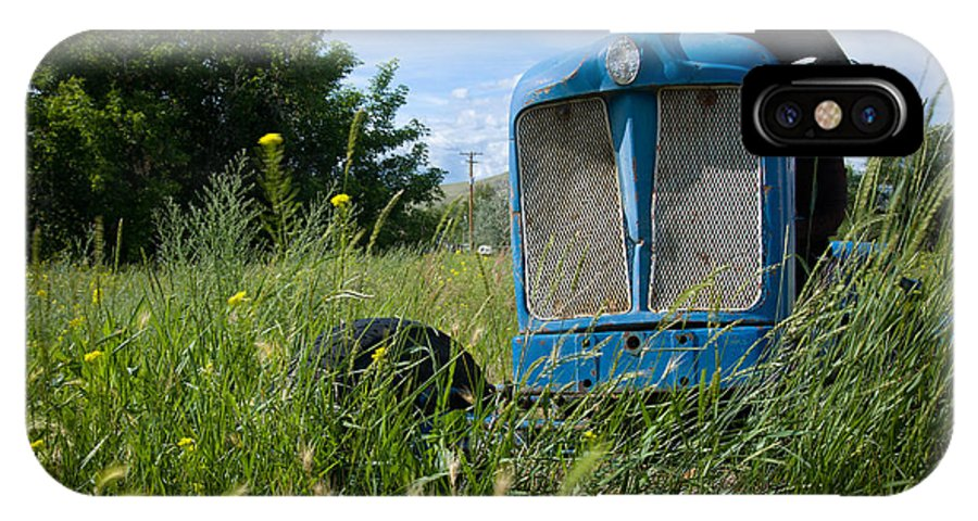 Tractor IPhone X Case featuring the photograph Fordson Deisel by Idaho Scenic Images Linda Lantzy