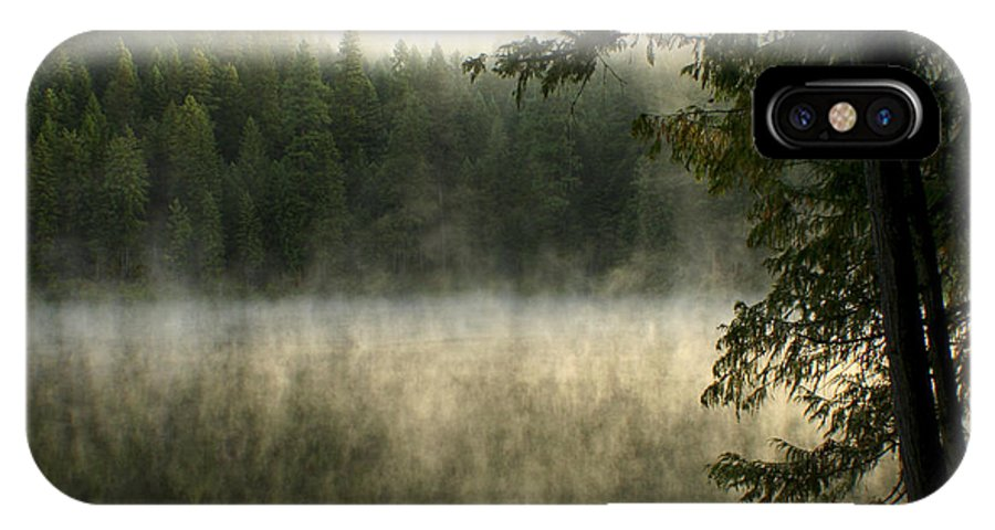 Fog IPhone X Case featuring the photograph Forest And Fog by Idaho Scenic Images Linda Lantzy