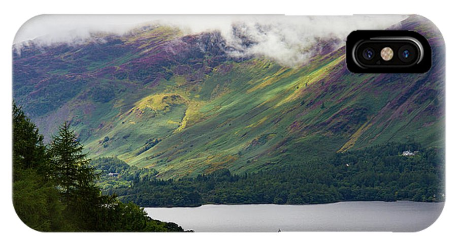 Cumbria Lake District IPhone X Case featuring the photograph Forest And Lake Derwent Water Drama by Iordanis Pallikaras