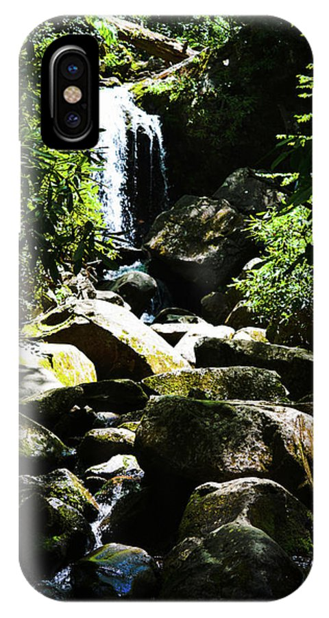 Forest IPhone X / XS Case featuring the photograph Forest Falls by Christina Zizzo