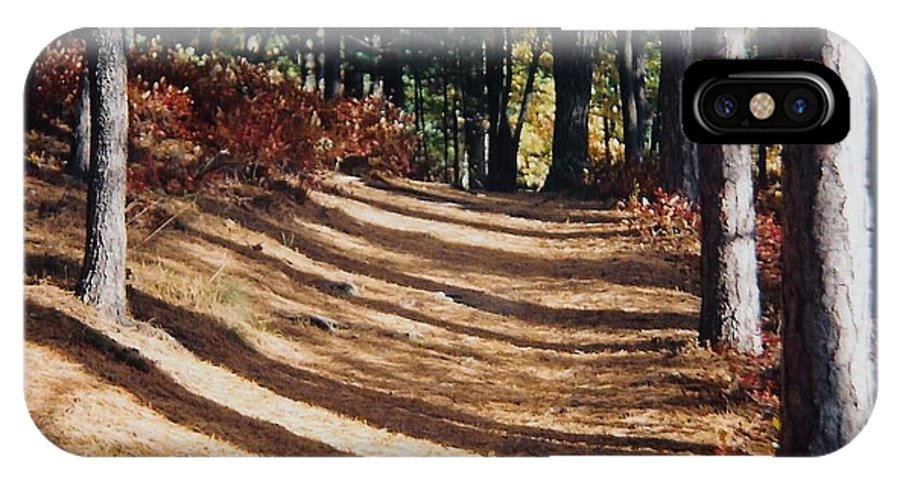 Fall IPhone Case featuring the photograph Forest Path by Ellen Leigh