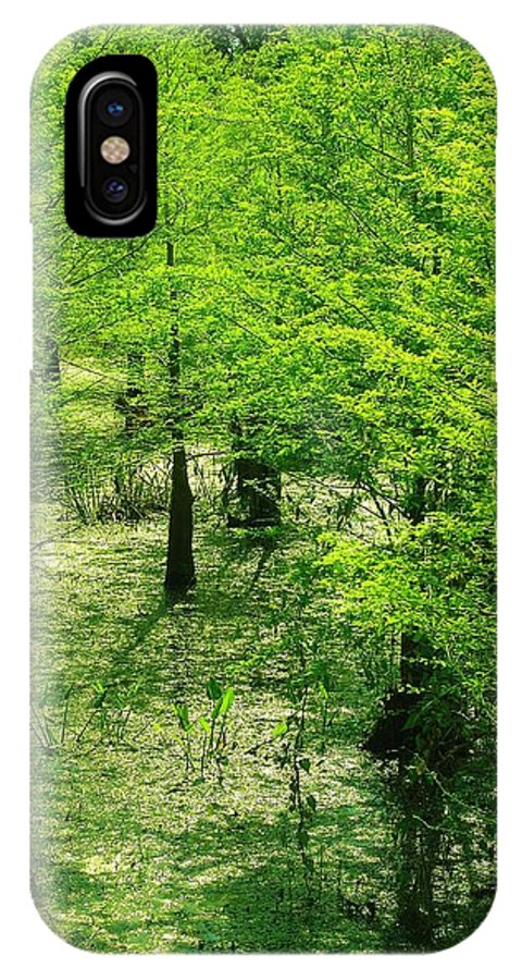 Tree IPhone X Case featuring the photograph Forest So Green by Florene Welebny