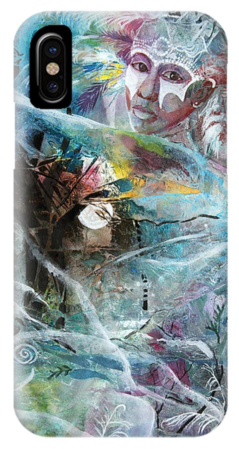 Dancer IPhone X Case featuring the painting Forest Spirit by Patricia Allingham Carlson