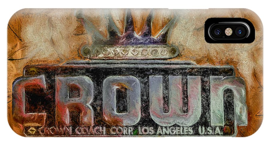 Crown IPhone X Case featuring the digital art Forged In Fire - Crown - Oil by Tommy Anderson
