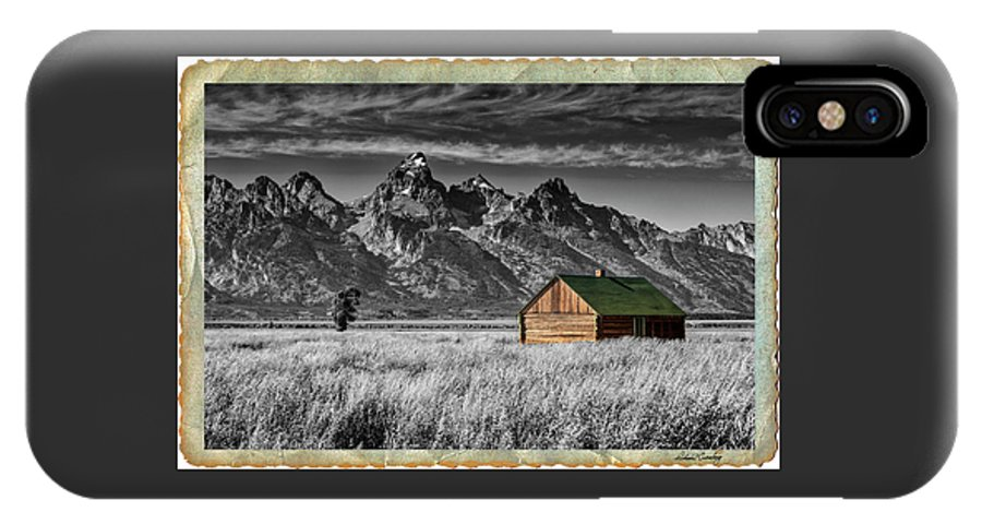 Grand Tetons IPhone X / XS Case featuring the photograph Forgotten Cabin by Richard Cronberg