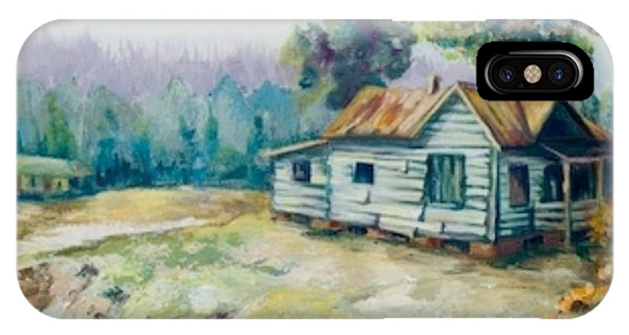Old Houses IPhone Case featuring the painting Forgotten Places II by Elisabeta Hermann