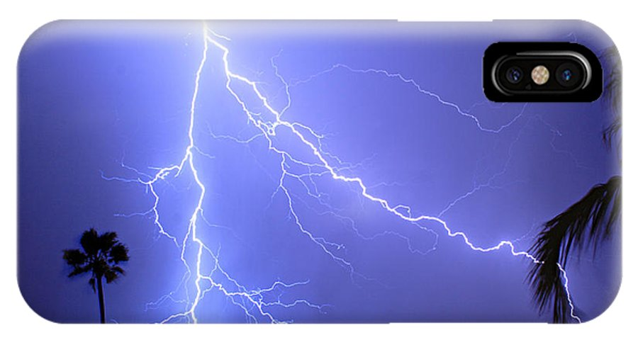 Lightning IPhone X Case featuring the photograph Fork In The Sky by James BO Insogna