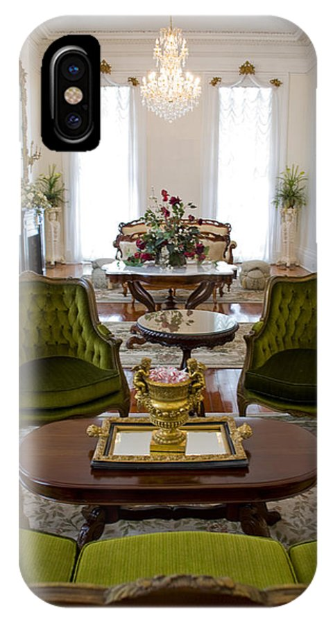 Mansion IPhone X Case featuring the photograph Formal Dining Room by Jennifer Kelly